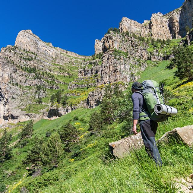 """""""Trekking in Pyrenees"""" stock image"""