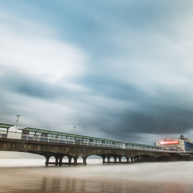 """Bournemouth Pier, Stormy afternoon"" stock image"