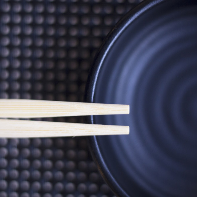 """Chopsticks in Japanese restaurant"" stock image"