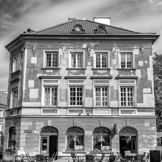 """Old tenement building - Warsaw, Poland."" stock image"