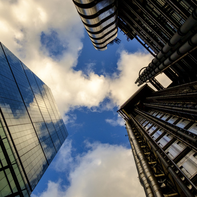 """London, England - september 10, 2014: urban landscape with contemporary modern offices in London"" stock image"