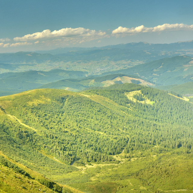 """panorama of the mountains"" stock image"