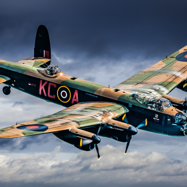 """Avro Lancaster, City of Lincoln."" stock image"