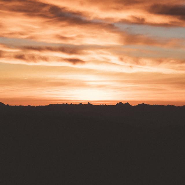 """""""Epic Sunrise Vancouver"""" stock image"""