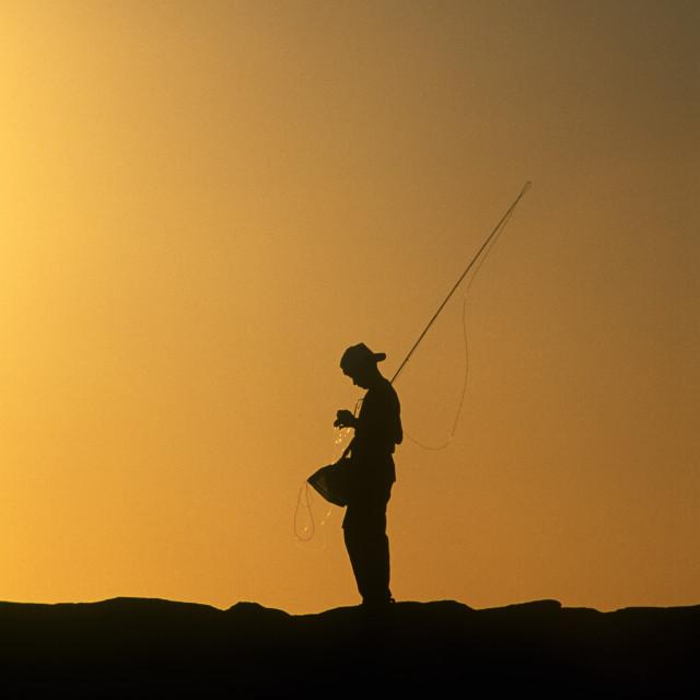 """Boy fishing."" stock image"