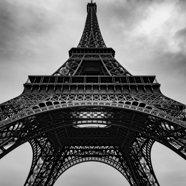"""""""Eiffel towering above"""" stock image"""