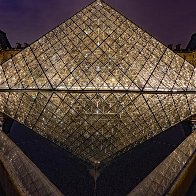 """""""A night at the Louvre"""" stock image"""