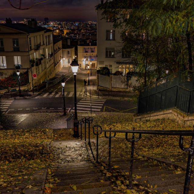 """""""Fall in Paris"""" stock image"""