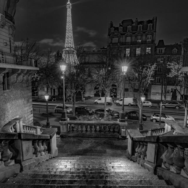 """Stairway to Eiffel"" stock image"