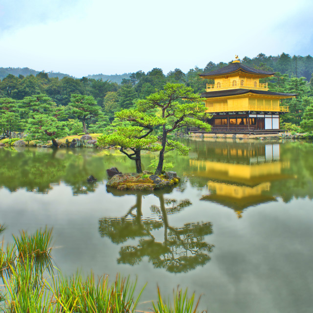 """Golden temple, Kyoto"" stock image"