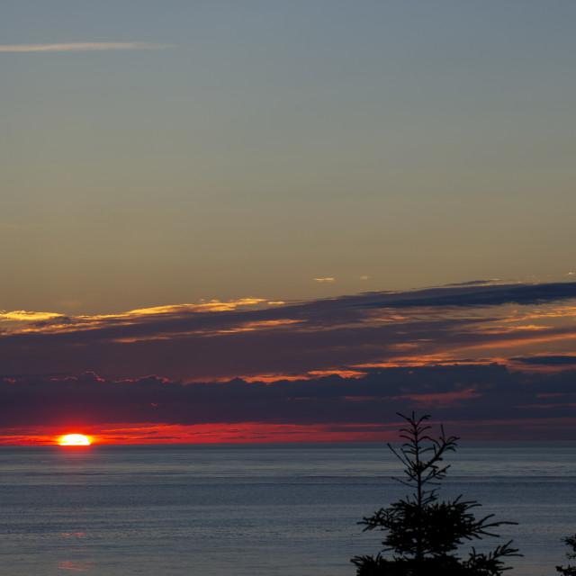 """Atlantic Sunrise"" stock image"
