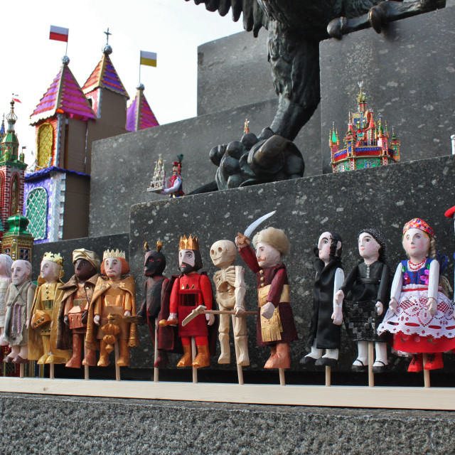 """Kraków Christmas figures"" stock image"