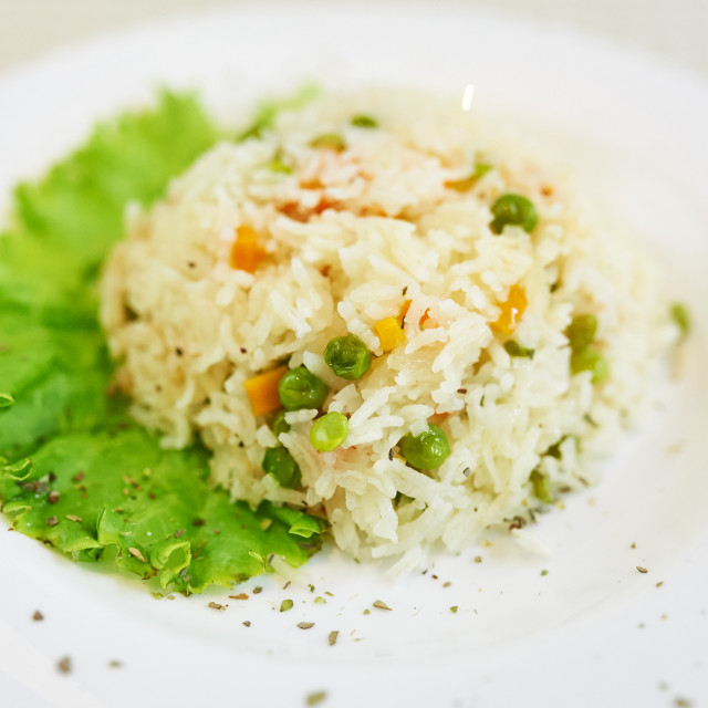 """Spring Risotto with Vegetables"" stock image"