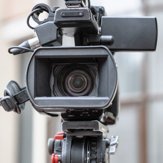 """Professional video camera"" stock image"