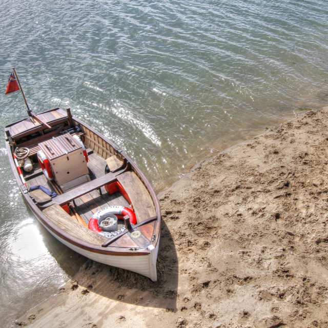 """Boat at Instow, Devon"" stock image"