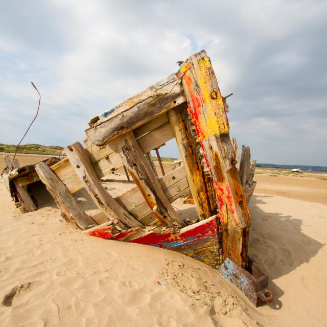 """Shipwreck at Braunton Burrows"" stock image"