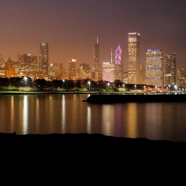"""""""Chicago sunset"""" stock image"""
