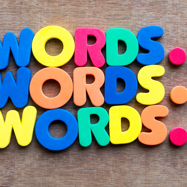 """words in wood background"" stock image"