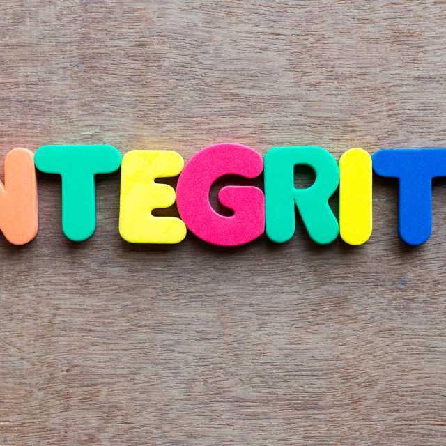 """integrity"" stock image"