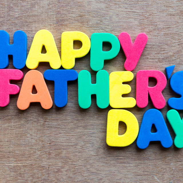 """Happy Fathers Day"" stock image"