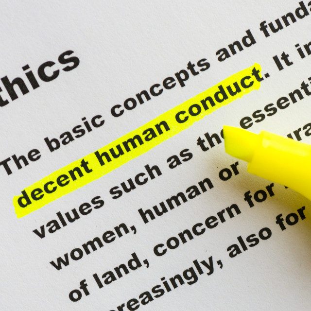"""Ethics word definition highlighted"" stock image"