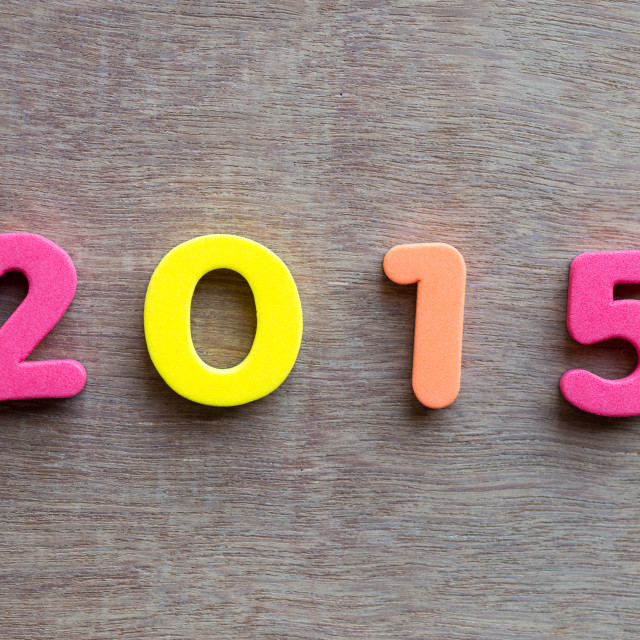 """Year 2015 numbers"" stock image"
