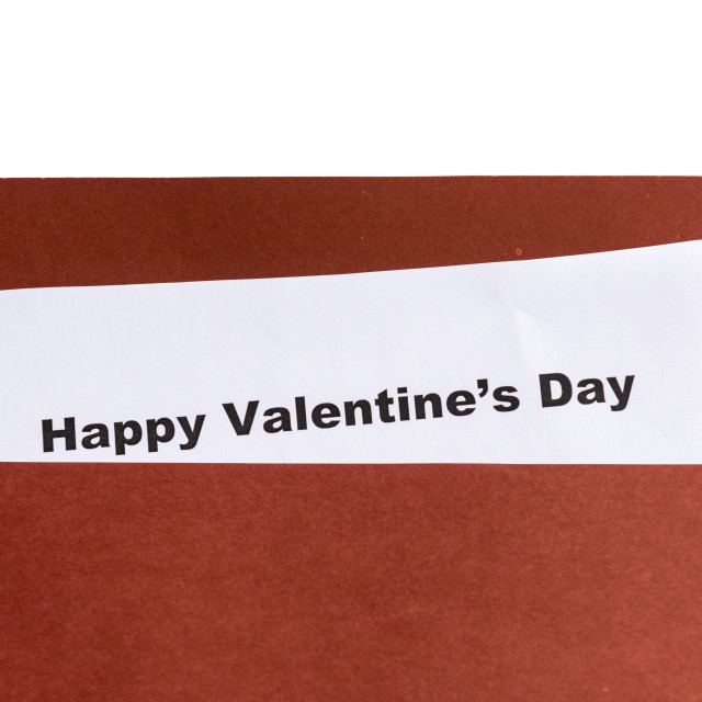 """happy valentine's day in the envelope"" stock image"