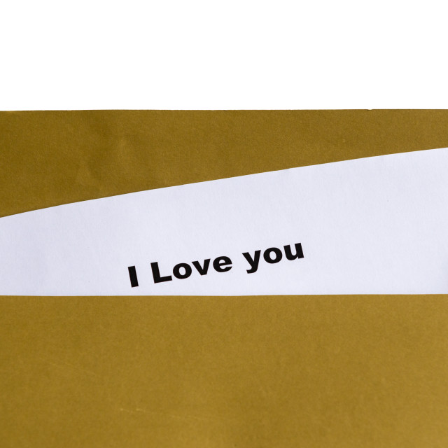 """i love you"" stock image"