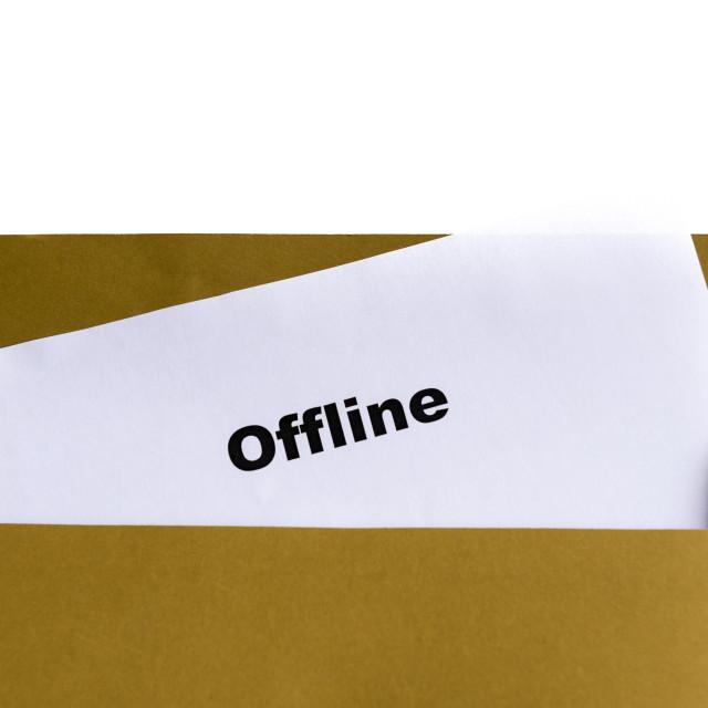 """""""offline"""" stock image"""