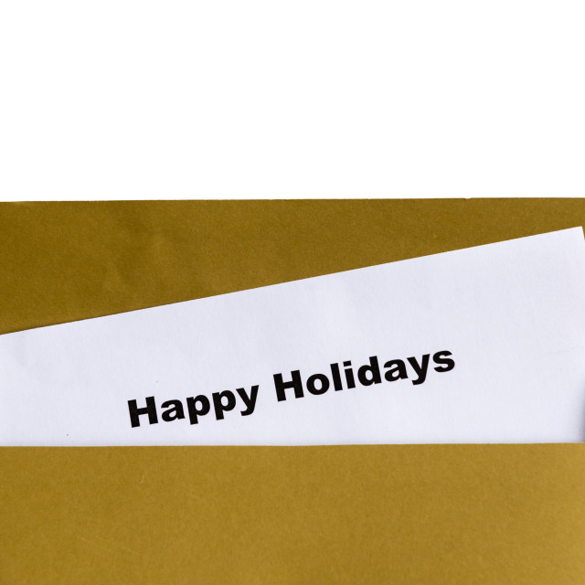 """happy holidays"" stock image"