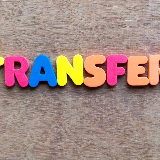 """transfer"" stock image"