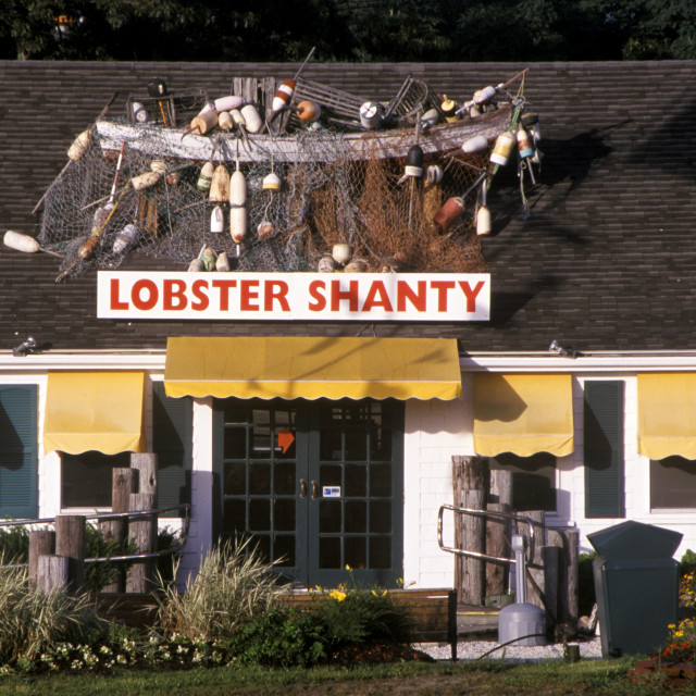 """""""Lobster and seafood shack, Eastham, Cape Cod"""" stock image"""