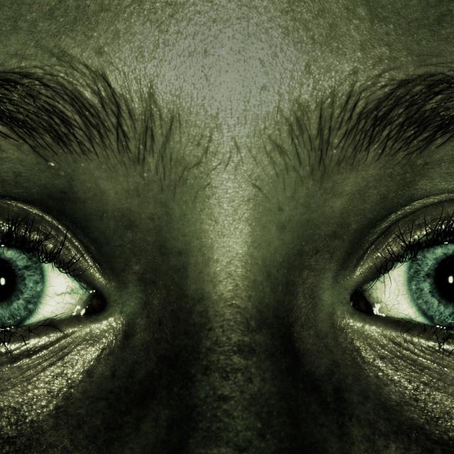 """Evil eyes."" stock image"
