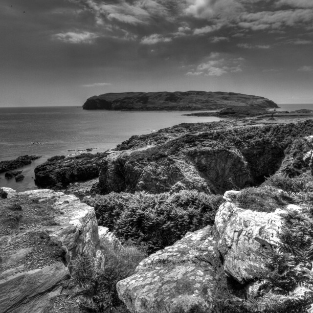 """Calf Sound, Isle of Man"" stock image"