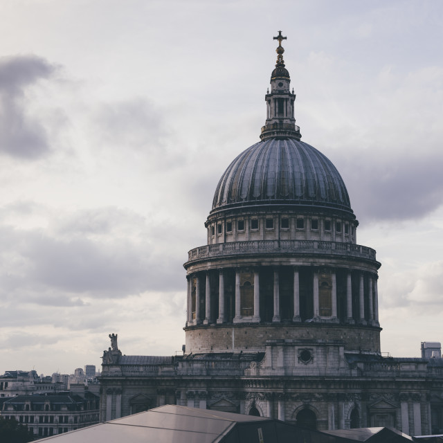 """""""St Pauls Cathedral, London"""" stock image"""