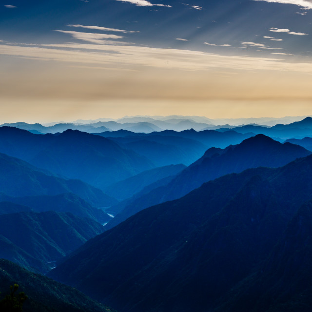 """""""Odaigahara - A UNESCO reserve in Japan"""" stock image"""
