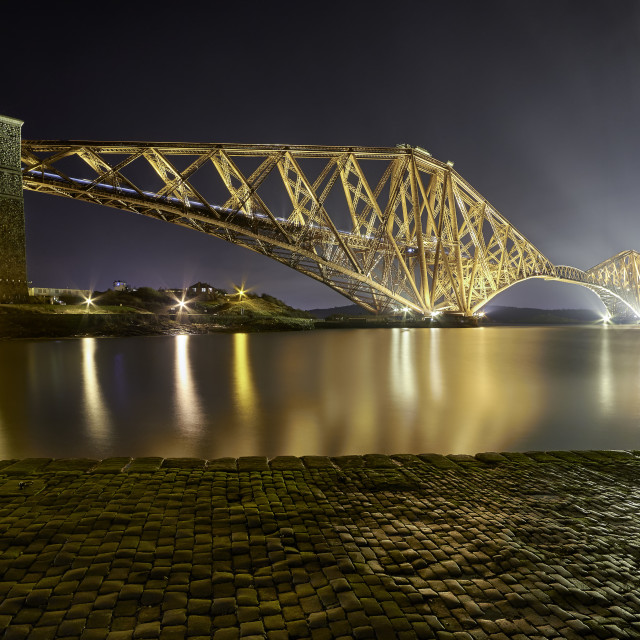 """Forth Rail Bridge at Night"" stock image"
