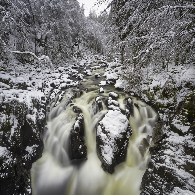 """The Hermitage Waterfall, Perth, Scotland"" stock image"