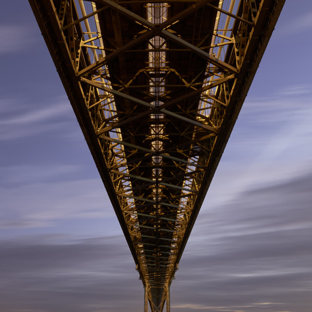 """Forth Road Bridge, Fife, Scotland"" stock image"