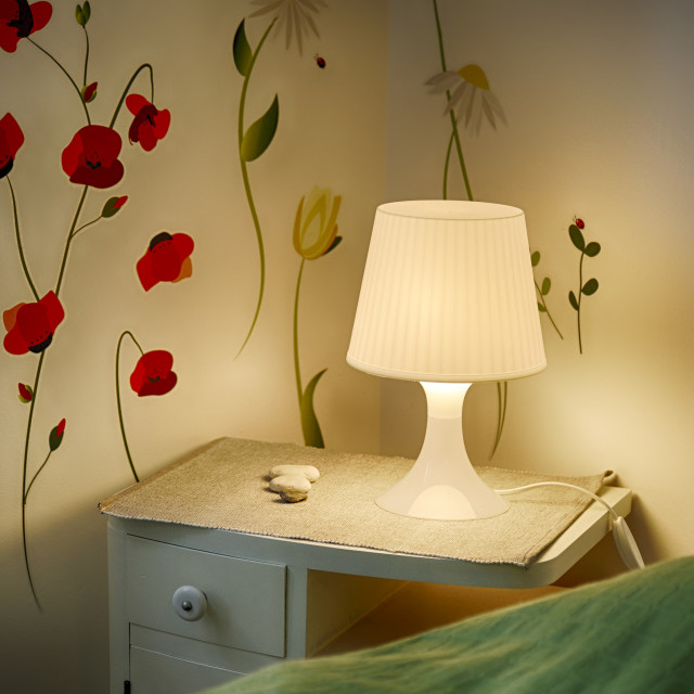 """Table and lamp"" stock image"