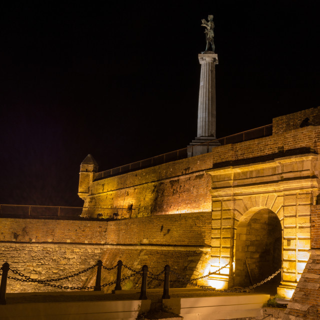 """Victor monument by night"" stock image"
