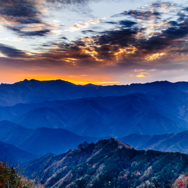 """""""Sunset in God's territory"""" stock image"""