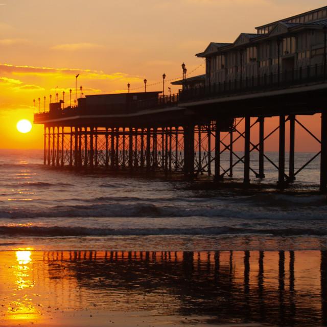 """Sunrise & Pier"" stock image"