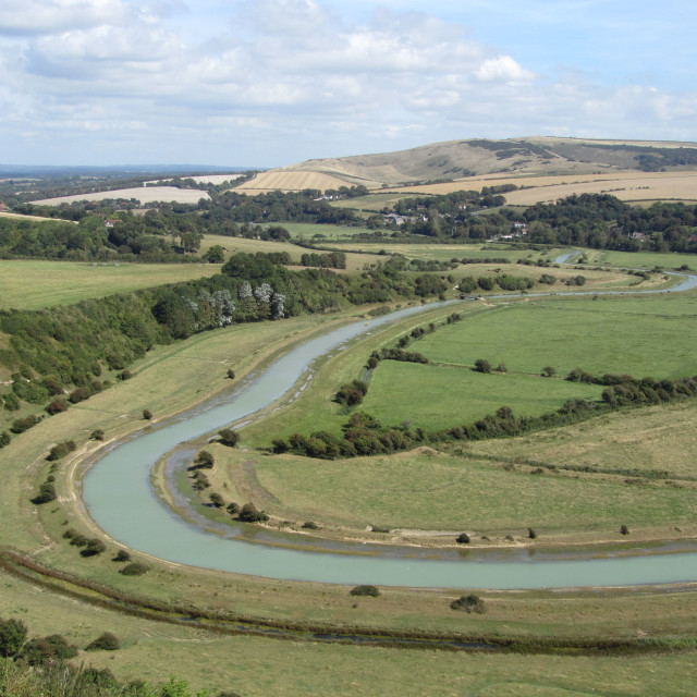 """""""The Cuckmere Valley"""" stock image"""