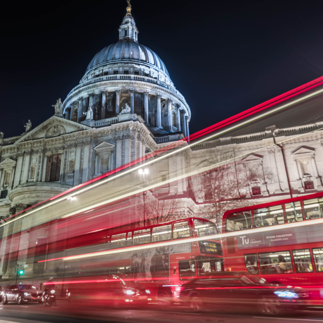 """St Paul's blur"" stock image"