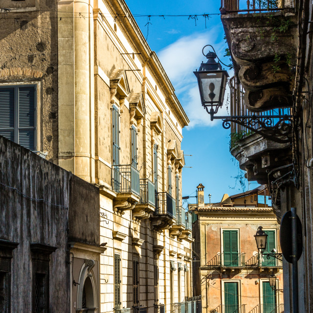 """""""old sicilian houses"""" stock image"""
