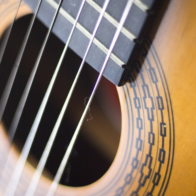 """Spanish acoustic guitar"" stock image"