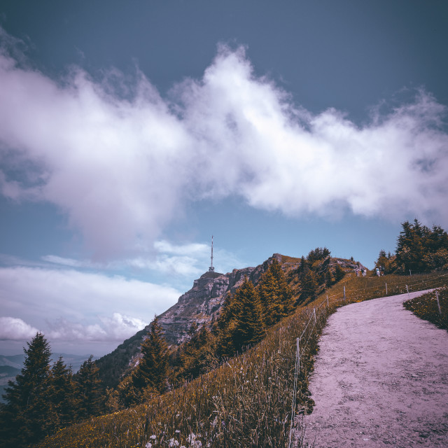 """Mount Rigi"" stock image"
