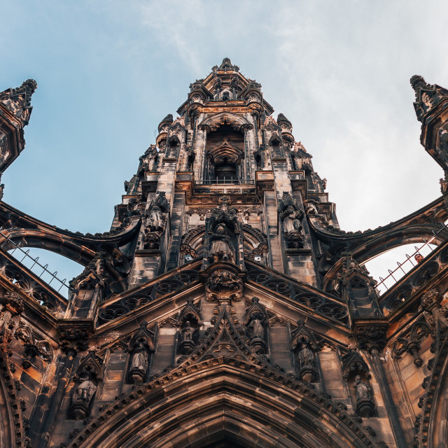 """Scott Monument"" stock image"