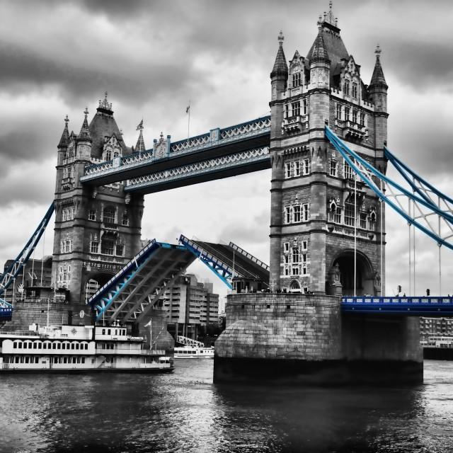 """Tower Bridge Blue"" stock image"